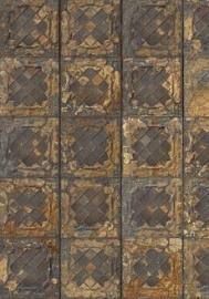 Brooklyn Tins Tin-08 Tegel/Verweerd/Vintage/Landelijk Behang -Arte