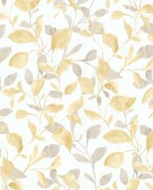 Eijffinger Grenada Behang 367024 Bladeren/Botanisch/Geel/Taupe