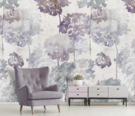 Behangexpresse Floral-Utopia Fotobehang INK7580 Hortense Color/Hortensia/Bloemen