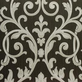 Eijffinger Richmond Behang 330647 Barok/Klassiek/Ornament/Zwart/Grijs