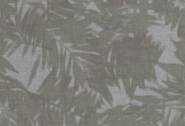Hookedonwalls Arashi Behang 4812 Felce/Bladeren/Botanisch/Grijs/Groen