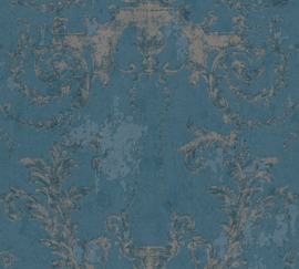 AS Creation History of Art Behang 37648-5 Ornament/Landelijk/Vintage/Blauw