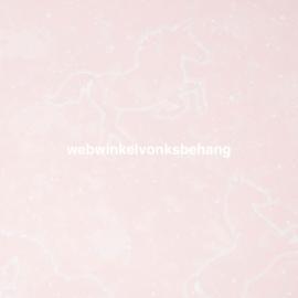Noordwand Kids@Home Individual Behang 107645 IIIumicorn Pink Glow in the Dark/Roze/Eenhoorn/Kinderkamer