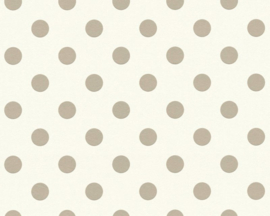 AS Creation Boys & Girls6 Behang 36934-1 Dots/Stippen/Ballen/Taupe/Kinderkamer