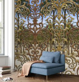 New Materials Fotobehang INK7071 Place de la Reina Gold/Hekwerk - Behangexpresse