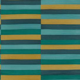 Rasch Club Behang 418736 Horizontale Strepen/Leer effect/Dierenhuid/Modern