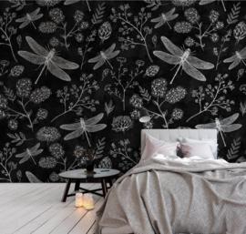 Walls by Patel DD110341 Botanisch Blackboard 8 Fotobehang - ASCreation