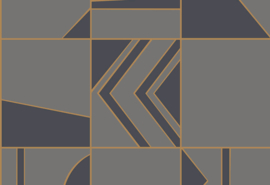 Hookedonwalls Tinted Tiles Behang 29043 Groove/Modern/Grafisch