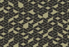 Hookedonwalls Tinted Tiles Behang 29025 Flake/Grafisch/Modern/3D