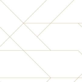 Esta Home Art Deco Behang 156-139143 Grafische Lijnen/Modern/Goud