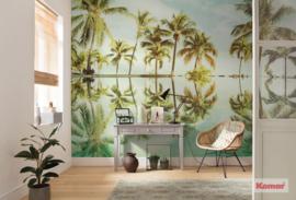 Komar Pure P012-VD4 Key West/Palmen/Bomen/Strand/Tropisch Fotobehang Noordwand