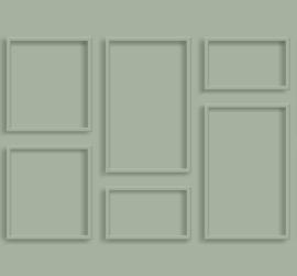 Esta Home Art Deco Fotobehang 158966 3D Wall Paneling/Panelen/Modern/Landelijk/Vergrijsd Groen