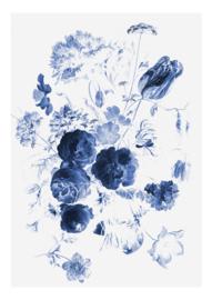 Kek Amsterdam WP 207 Royal Blue Flowers 1 Fotobehang  - Dutch wall coverings