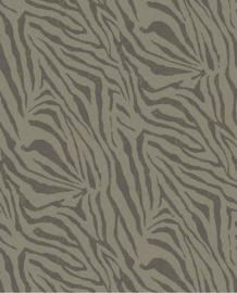 Eijffinger Skin Behang 300606 Fotobehang/Zebra Olive/Dieren/Huiden/Natuurlijk/Industrieel