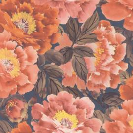 Rasch Kimono Behang 408348 Bloemen/Landelijk/Natuurlijk/Multi