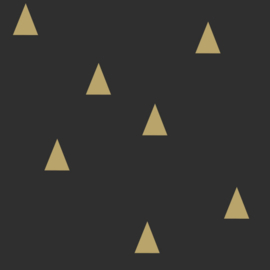 Esta Home Black & White Behang 155-139123 Driehoek/Modern/Grafisch/Zwart/Goud