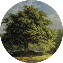 Painted Memories 2 Fotobehang Circle 8041C Working in the Woods/Cirkel/Natuur/Bomen Dutch Wallcoverings