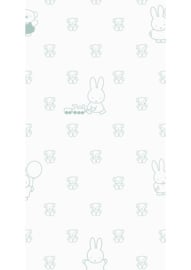 Kek Nijntje WP-509 Miffy Bears Green Behang - Dutch Wallcoverings/Kek Amsterdam
