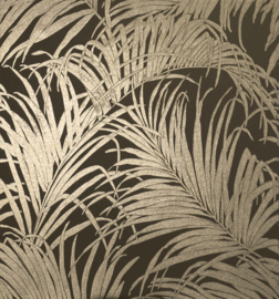 Arthouse Reflections Behang 903202 Botanisch/Bladeren/Kiss Foil Palm Leaf/Goud