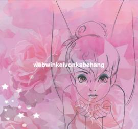 Noordwand Kids@Home Individual Fotobehang 111384 Tinkerbell Watercolour/Mural/Kinderkamer