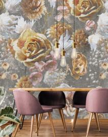 Behangexpresse Floral-Utopia Fotobehang INK7573 Lush Heritage Light/Craquele effect/Bloemen