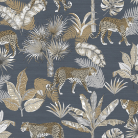 Dutch Wallcoverings Jungle Fever Behang JF2102 Leopard/Botanisch/Dieren/Planten/Luipaard