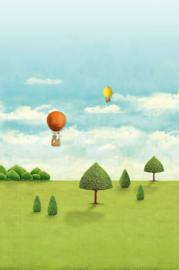Eijffinger Pip Studio 3 Behang 341097 Royal Pipland/Fantasie/Luchtballon/Kinderkamer Fotobehang