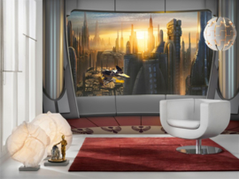 Disney 8-483 Star Wars Coruscant View Fotobehang  - Noordwand