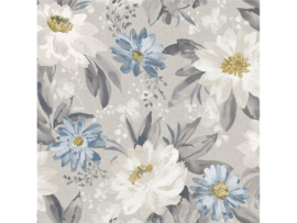 Arthouse Bloom Behang 676105 Painted Dahlia Multi Grey/Bloemen/Floral