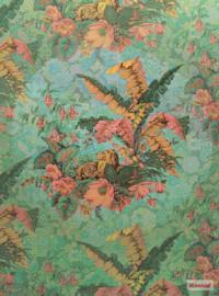 Komar Heritage ed.1 Fotobehang HX4-029 Orient Rose/Bloemen/Bladeren  Noordwand
