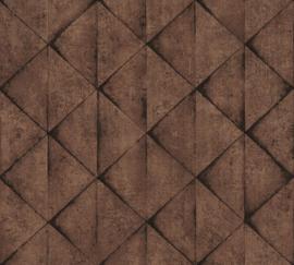 AS Creation Industrial Behang 37742-4 Modern/Driehoek/3D/Industrieel
