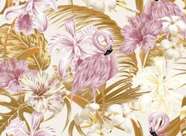 AS Creation Designwalls Fotobehang DD118566 Flamingo Art 2/Vogel/Tropical/Bloemen/Botanical