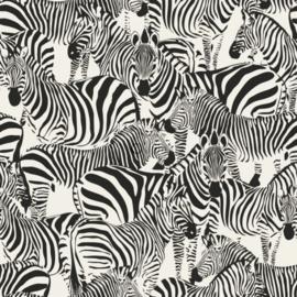 Origin Wunderkammer Behang  346-347453 Dieren/Zebra/Zwart/Wit