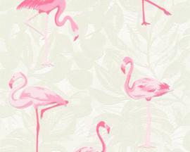 AS Creation Boys & Girls6 Behang 35980-1 Flamingo/Botanisch/Bladeren/Tropical