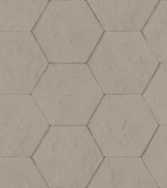 Rasch Brick Lane Behang 427134 Beton/Modern/Hexagon/Taupe