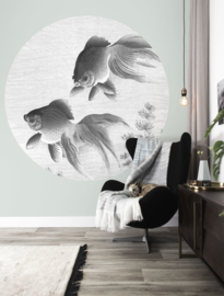 Kek Circle/Wonderwalls CK 005 Dieren/Modern/Vissen/Cirkel Fotobehang - Dutch Wallcoverings
