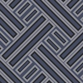Rasch Galerie Geometrix Behang GX37602 Geometrisch/Modern/Vlakken/Blauw