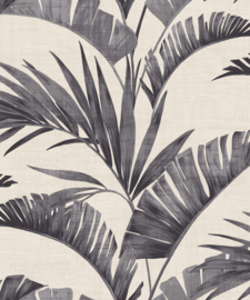 Journeys 610601 Banana Palm Charcoal Behang - Arthouse/Atwalls