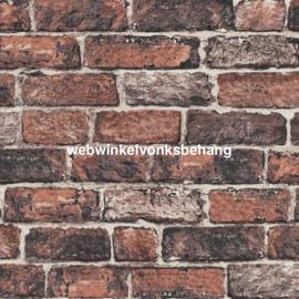 Noordwand Kids@Home Individual Behang 102834 Fresco Red Brick Wall/Stenen/Baksteen/Landelijk