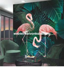 Marburg Smart Art Aspiration Fotobehang 46703 Lesley/Flamingo/Vogels/Natuurlijk/Tropical/Botanisch