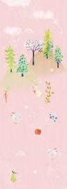 Behangexpresse Kate & Andy Fotobehang INK7451 Secret World Pink/Roze/Verlengstuk/Kinderkamer Behang