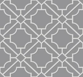 Dutch Wallcoverings Navy, Grey & White Behang BL70018 Modern/Grafisch/Geometrisch/Grijs