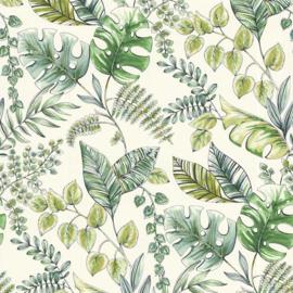 Noordwand Sejours & Chambres Behang 51196204 Botanisch/Natuurlijk/Bladeren/Jute Structuur