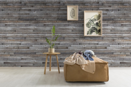 Dutch Wallcoverings One Roll One Motif Behang A34801 Horizontal Wood/Hout/Planken