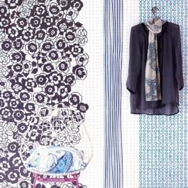 Eijffinger Raval Behang 341591 Viogeo Delft/Streep/Bloemen/Romantisch Fotobehang