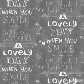 Noordwand Cozz Smile Behang 61166-16 Landelijk/Modern/Kalkbord/Tekst
