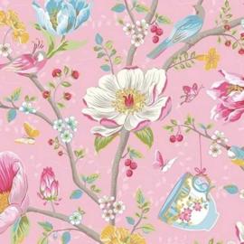 Eijffinger Pip Studio 3 Behang 341001 Romantisch/Bloemen/Roze/Landelijk