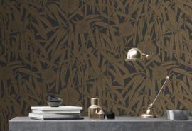 Hookedonwalls Daimon Behang DA23231 Botanisch/Bladeren/Bloemen/Natuurlijk/Modern/Roze