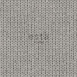 Esta Home Denim & Co Behang 137721 Modern/Natuurlijk/Brei patroon Behang