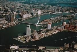 Fotobehang. Rotterdam bovenaanzicht 2
